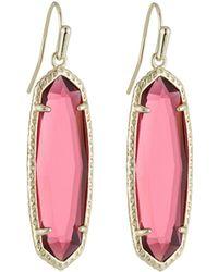 Kendra Scott Layla Drop Earrings Berry Glass - Pink
