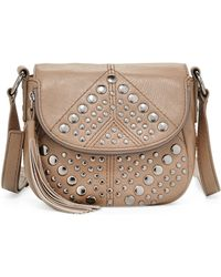 Isabella Fiore Bellmore Studded Leather Crossbody Bag - Multicolour