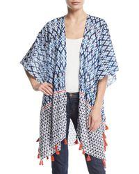 Raj - Ikat-print Cotton Kimono W/ Tassels - Lyst