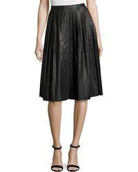 Bagatelle - Plissé Leather Skirt - Lyst