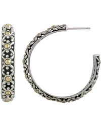 115143dca John Hardy Dot Jaisalmer Silver & Gold Square Stud Earrings in ...