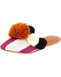 Figue Iris Striped Pompom Mule - Multicolor