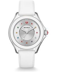 Michele - Cape Topaz Watch With Silicone Strap White - Lyst