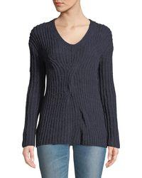Leon Max - Alpaca-blend Twisted Pullover Sweater - Lyst