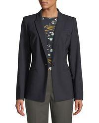 Lafayette 148 New York - Harvey One-button Wool-stretch Blazer Jacket - Lyst