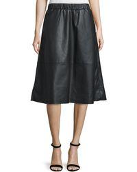 Bagatelle Faux-leather A-line Midi Skirt - Black