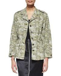 ATM - Camo Field Drawstring-waist Jacket - Lyst