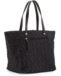 Nicole Miller City Life Quilted Tote Bag - Black
