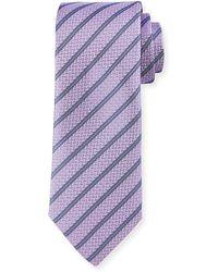 Robert Graham - Lovett Herringbone Striped Silk Tie - Lyst