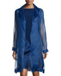 Shamask | Organza Asymmetric Paneled Coat | Lyst