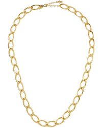 Kenneth Jay Lane - Satin Chain-link Necklace - Lyst