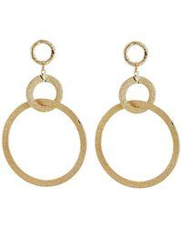 Panacea Textured Hoop-drop Earrings - Metallic