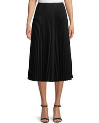Lafayette 148 New York - Dorothy Pleated Midi Skirt - Lyst