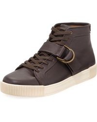 Michael Bastian - Lyons High-top Leather Sneaker - Lyst