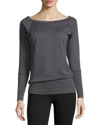 Nux Mel Long-sleeve Ribbed Sweater - Black