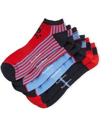 Psycho Bunny - Striped Three-pack Athletic Sock Set - Lyst