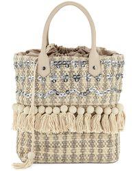 Sam Edelman - Tori Woven Embellished Tote Bag - Lyst