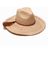 Ále By Alessandra   Zenyatta Straw Panama Hat W/ Braided Raffia Band   Lyst