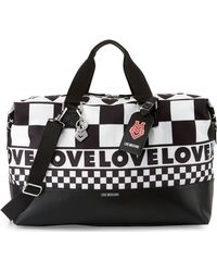 Love Moschino - Check Canvas Weekender Bag - Lyst