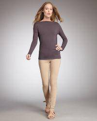 Vince Calgary Zipper-cuff Skinny Jeans - Natural