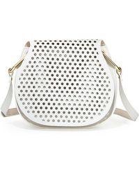 Cynthia Rowley Summer Leather Crossbody Bag - White