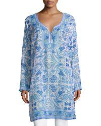 Raj | Athena Printed Caftan Tunic | Lyst
