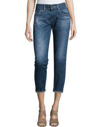 AG Jeans - Nikki Slim Crop Jeans - Lyst