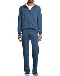 Brioni - Zip-front Hooded Sweatshirt - Lyst