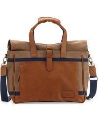 Original Penguin | Men's Canvas/leather Weekender Bag | Lyst
