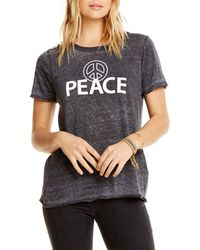 Chaser - Peace Faded Graphic Tee - Lyst