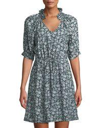 Rebecca Taylor - Capucine Vine Embroidered-silk Dress - Lyst