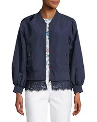 Laundry by Shelli Segal - Lace-trimmed Bomber Jacket - Lyst