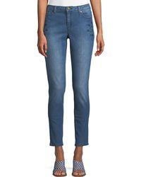 MICHAEL Michael Kors - Mid-rise Floral-embroidered Skinny Jeans - Lyst