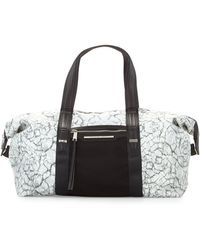 French Connection - Indy Marble-print Nylon Duffle Bag - Lyst