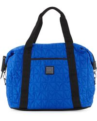 Nicole Miller - City Life Quilted Large Duffle Bag - Lyst