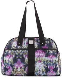 Nicole Miller City Life Printed Large Duffle Bag - Black