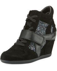 Ash - Bowie Wedge Sneakers With Glitter Trim - Lyst
