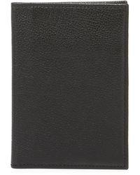 Neiman Marcus Leather Passport Cover - Black