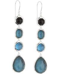 Ippolita Rock Candy Four-stone Drop Earrings Dusk - Blue