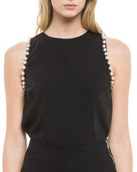 Endless Rose - Pearly-lined Sleeveless Top - Lyst