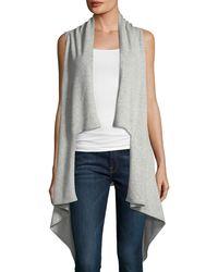Neiman Marcus - Cashmere Draped Sleeveless Vest - Lyst