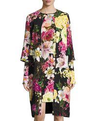 Naeem Khan - Floral-print 3/4-sleeve Coat - Lyst