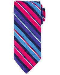Peter Millar - Striped Print Silk Tie - Lyst