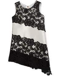 Zoe - Sleeveless Sheath Lace Asymmetric Dress - Lyst