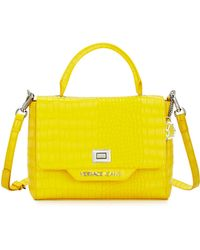 Versace Jeans - Crocodile-embossed Box Satchel Bag - Lyst