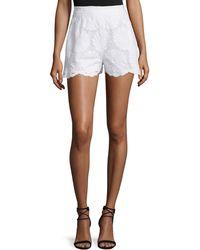 Nicholas - High-waist Sunflower-lace Shorts - Lyst