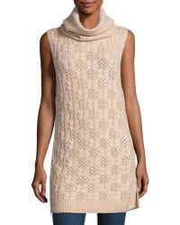 Todd And Duncan - Cashmere Sleeveless Cable-knit Tunic - Lyst