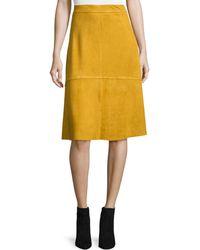 Goldie London | Faux-suede Establishment Skirt | Lyst