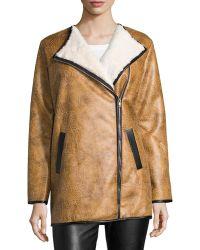 Goldie London - Snug Vintage Faux-shearling Coat - Lyst