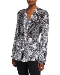 Robert Graham Lacey Paisley-print Silk Shirt - Black